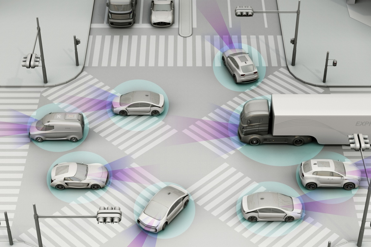 Vehicles can exchange secure and trustworthy information with roadway infrastructure