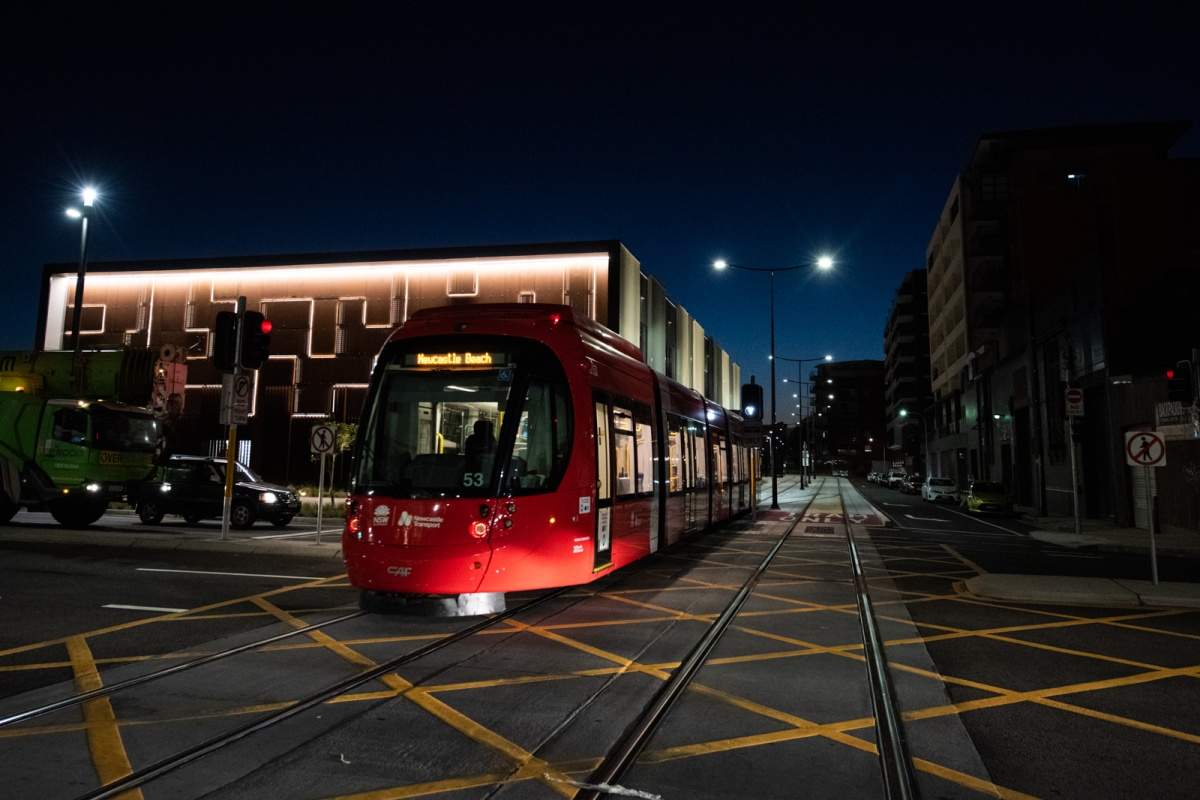 The light rail service has been rolled out in Newcastle ahead of schedule