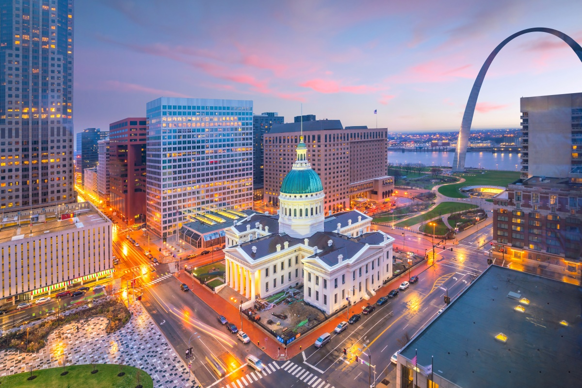 Downtown St Louis will be one of the areas benefiting from the smart energy plan