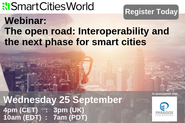 WEBINAR: The open road – A smart city is an interoperable city