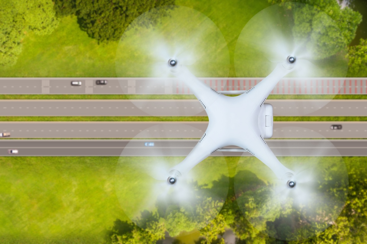 Drones can help to identify and hopefully deter dangerous drivers