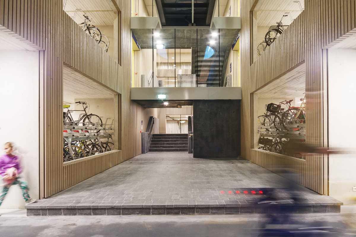 The multistorey bike park, which features spaces for more than 12,500 bicycles