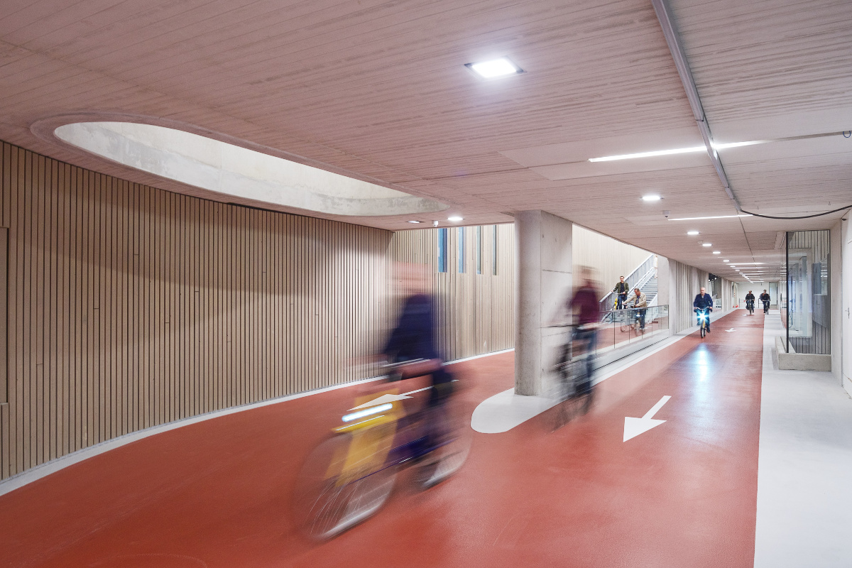 The bike park features a one-way traffic system for cyclists