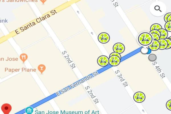 Google Maps integrates with Lime in more than 100 cities