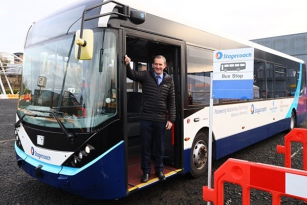 Scotland demonstrates full-size autonomous bus