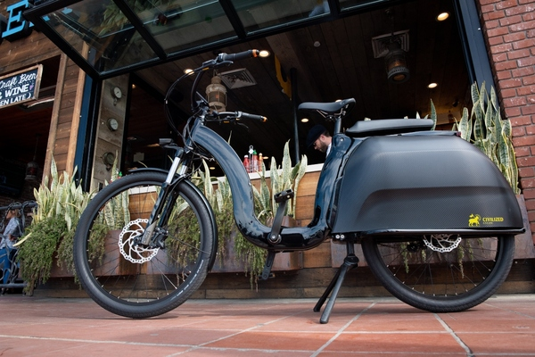 The Model 1 e-bike is equipped with automated air ride technology